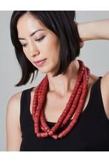 Cedi Handmade Korli Bead Strand Coral