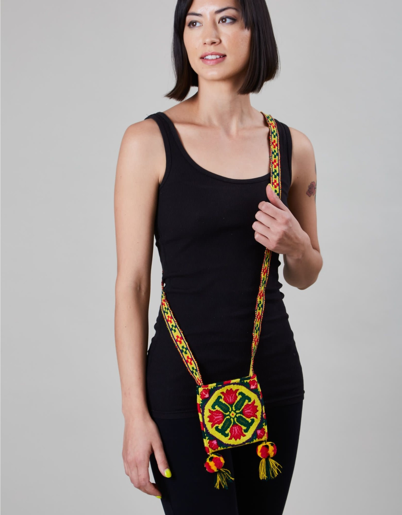 Huichol Woven Bag Yellow
