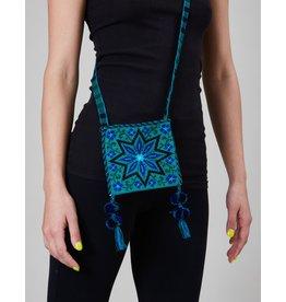 Huichol Woven Bag Blue