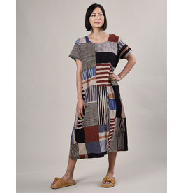 Haridra Hand Painted Dress Abstract 8