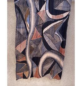Haridra Abstract 8 Cotton Scarf