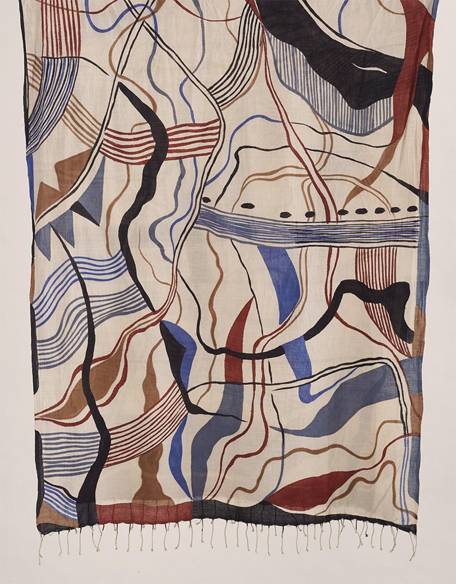 Haridra Abstract Scarf 11
