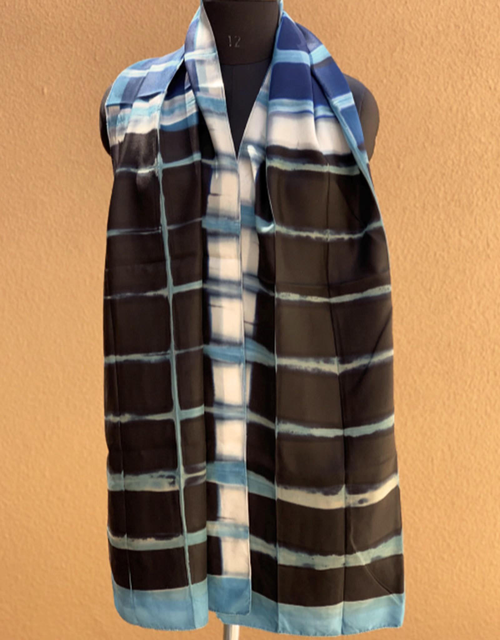 Sidr Craft Mahira Scarf Turquoise Line