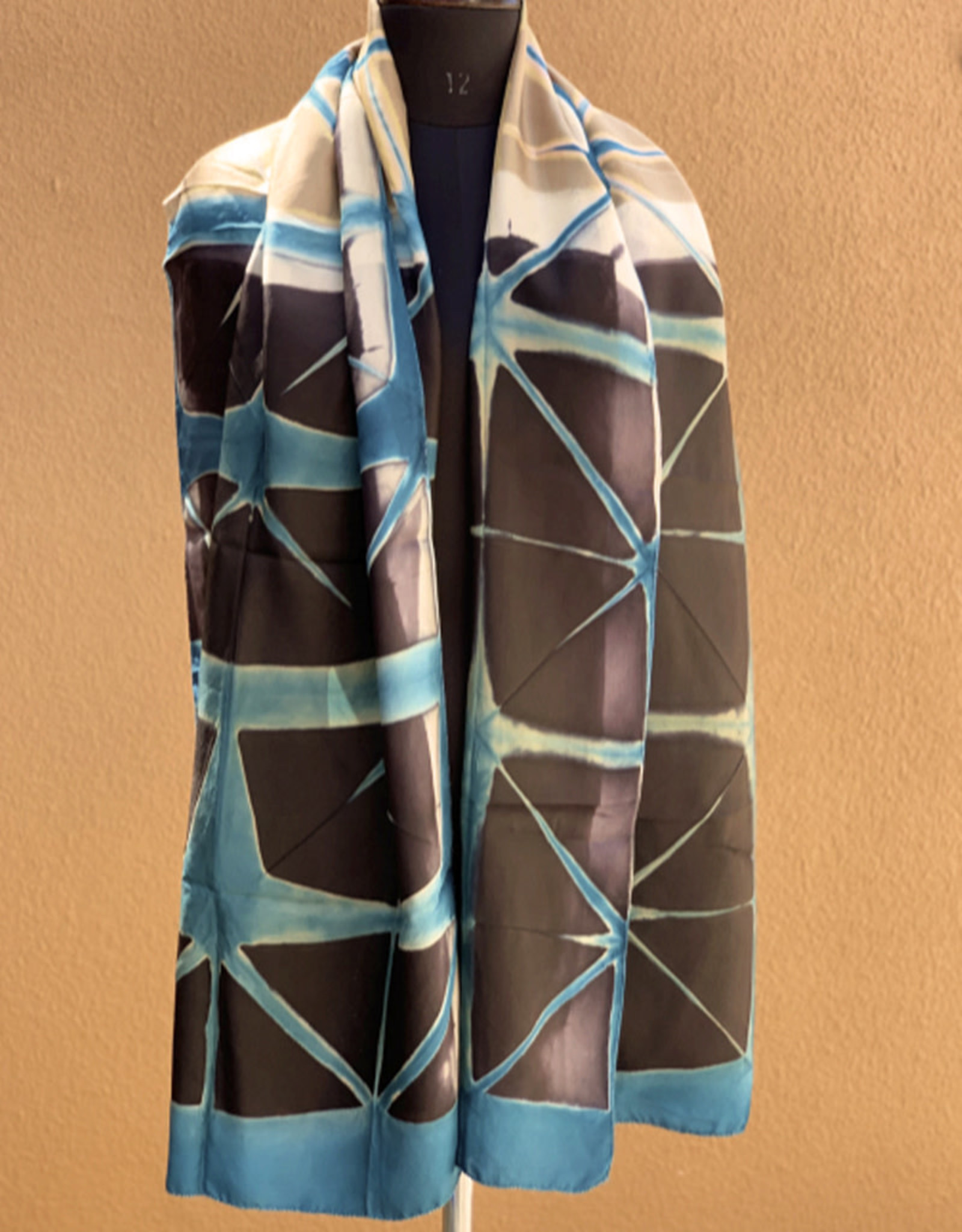 Sidr Craft Mahira Scarf Turquoise Grid