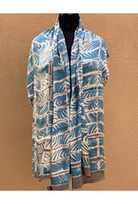 Sidr Craft Mahira Scarf Turquoise Wave