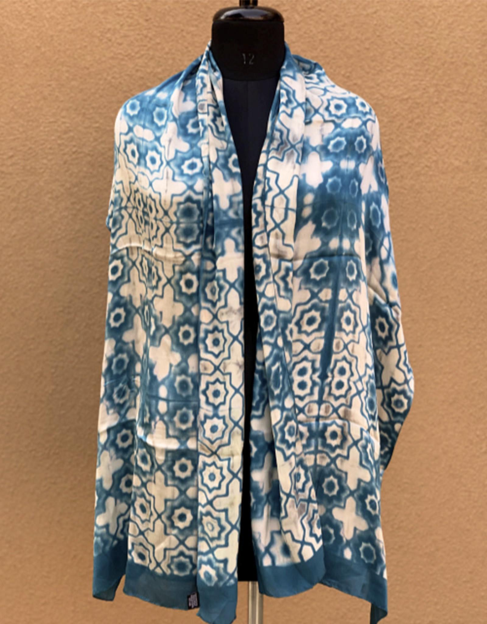 Sidr Craft Mahira Scarf Turquoise Tile