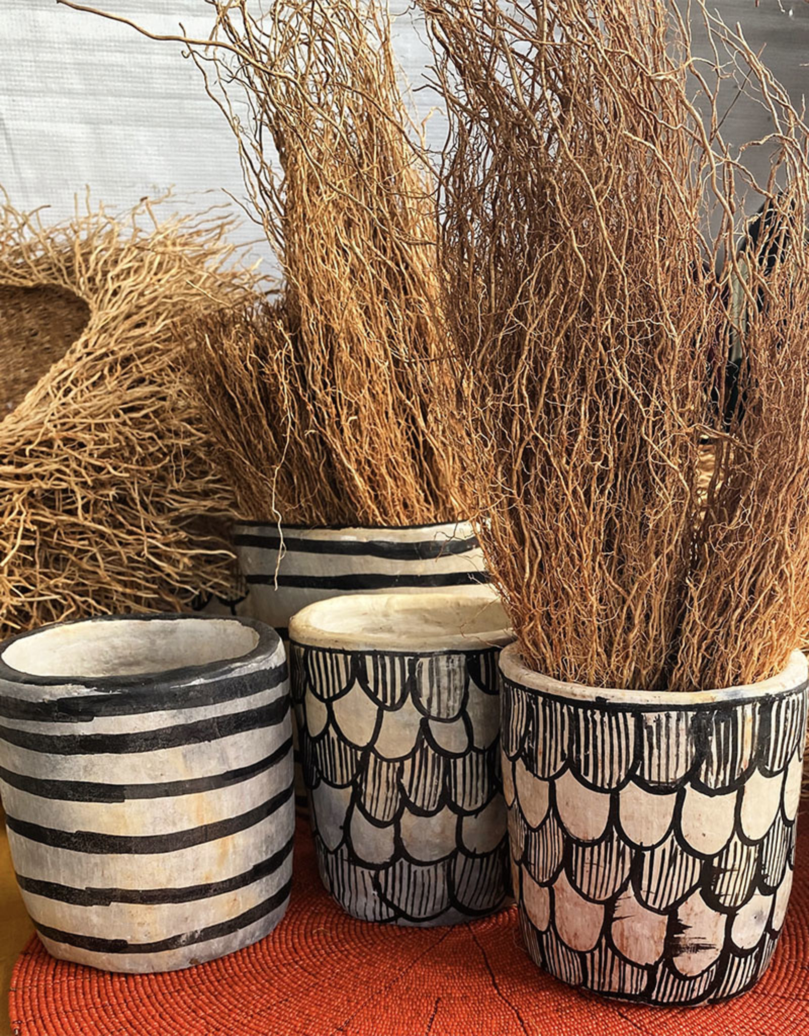 Sejnene Striped Vase