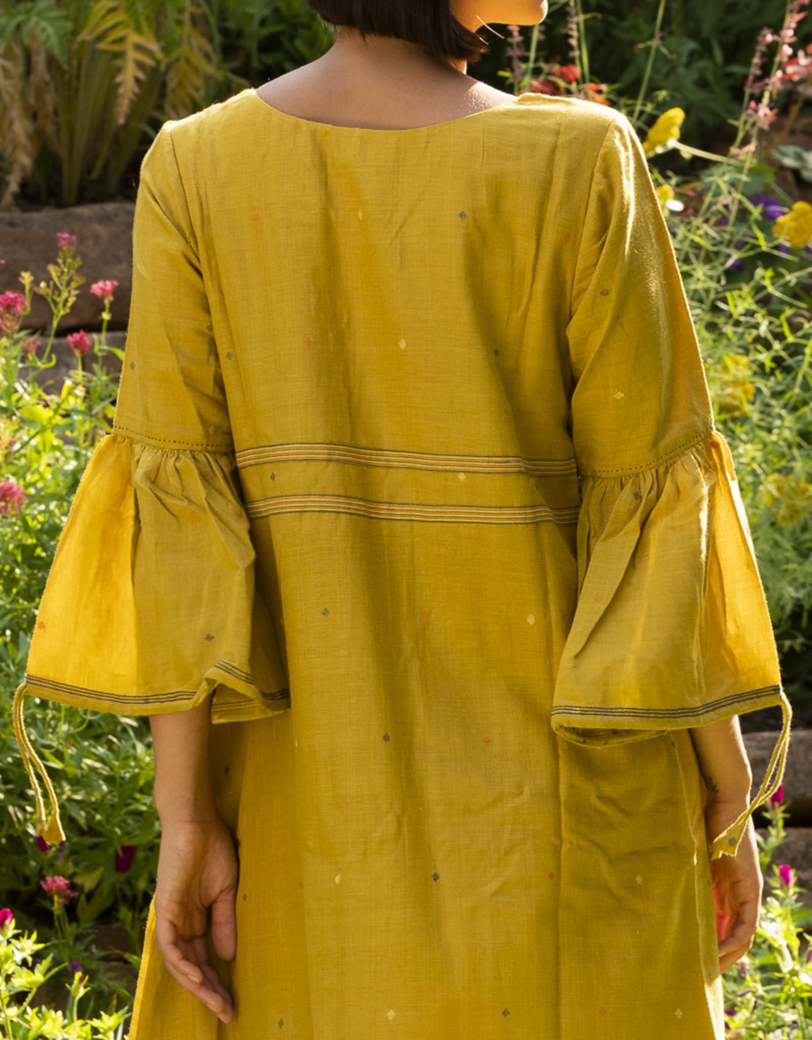 Bhomra Mohari Dress Mustard