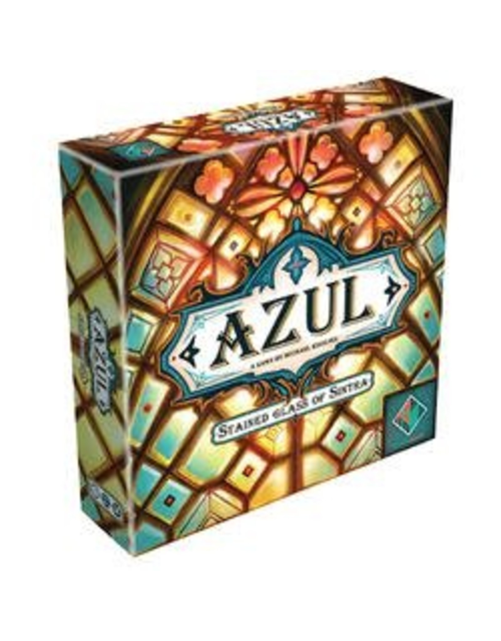 Azul and Azul Stained Glass of Sinatra clear glass acrylic first player marker