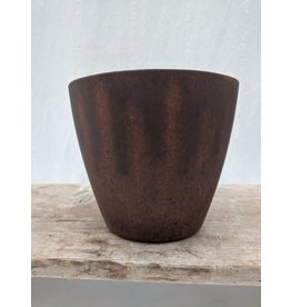 CLASSIC HOME AND GARDEN BROWN/VOGUE POT/ 8 INCH/PLASTIC