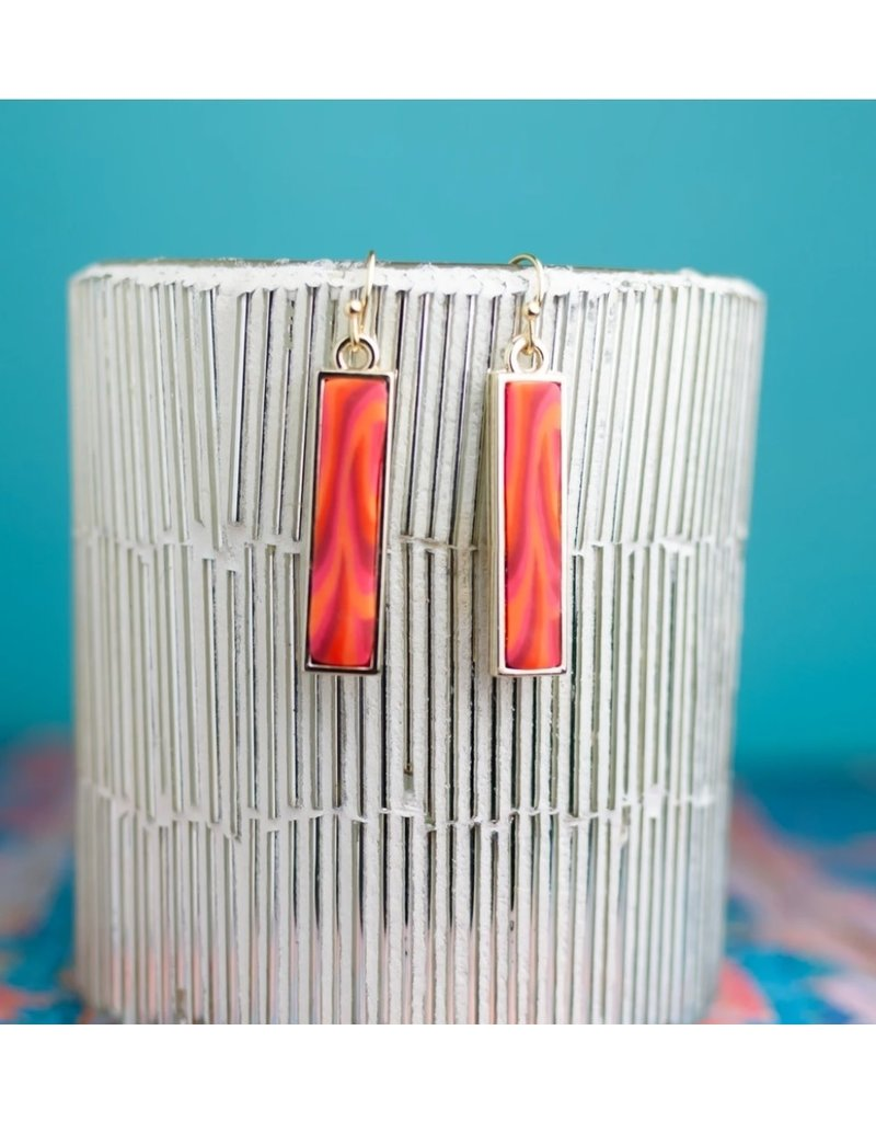 Jilzarah Jilzarah Reversible Bar Earrings