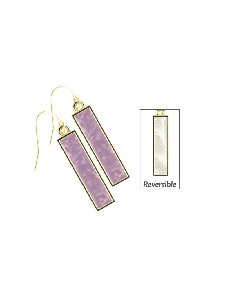 Jilzarah Jilzarah Reversible Bar Earrings