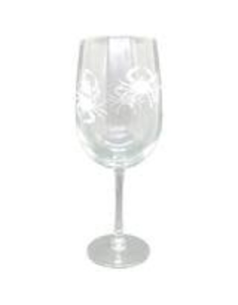 Blue Crab Life Crab Wine Glasses