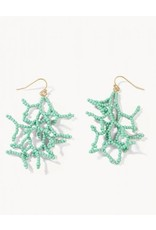 Spartina Beaded Coral Earrings - Sea Foam