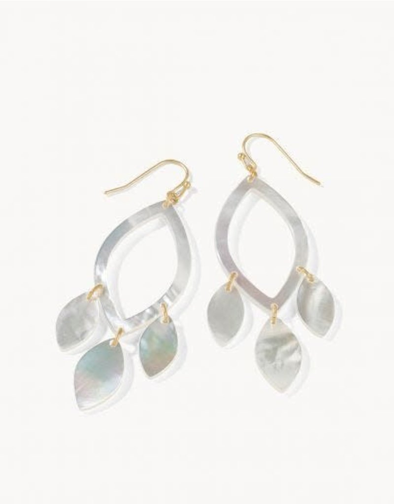 Spartina 449 Sweetspire Leaf Earrings - Pearlescent