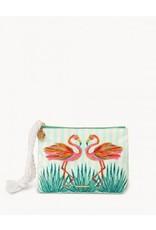 Spartina 449 Moreland Flamingo Carina Wristlet