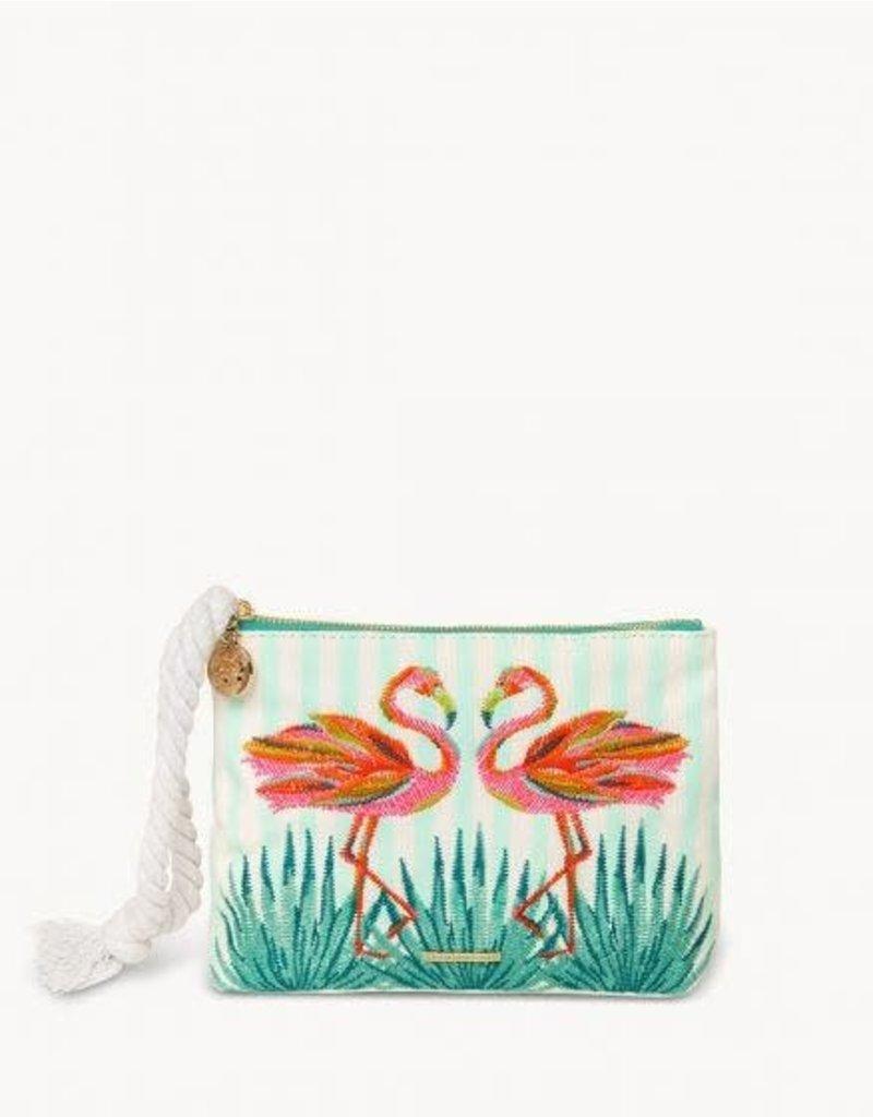 Spartina Moreland Flamingo Carina Wristlet