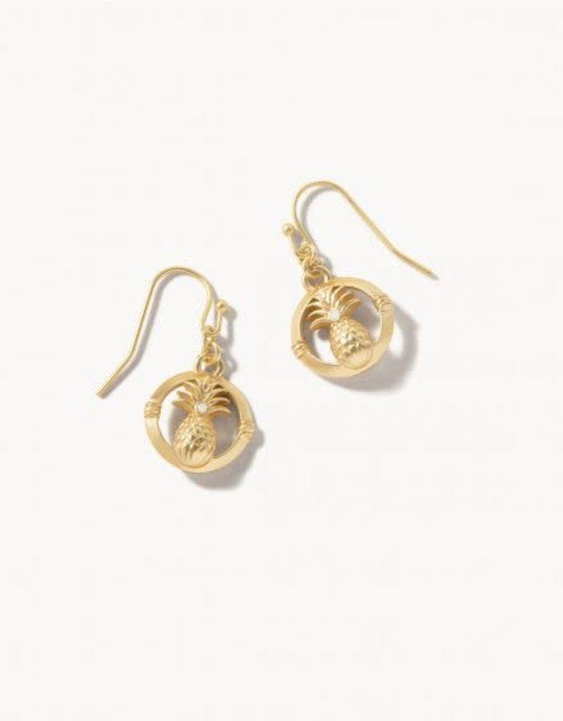 Spartina Sweet Pineapple Drop Earrings Gold