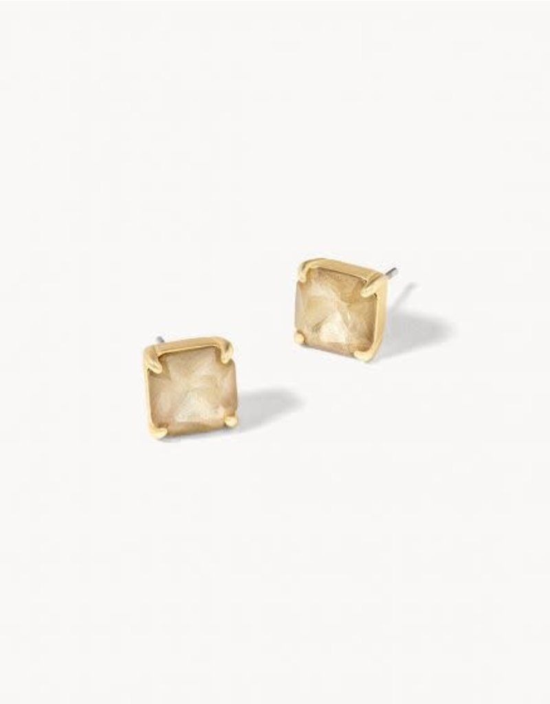 Spartina Mermaid Glass Abyss Stud Earrings - Gilded Gold