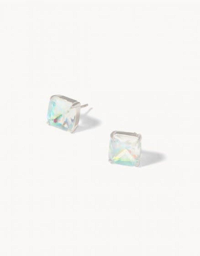 Spartina 449 Mermaid Glass Dewdrop Stud Earrings - Iridescent
