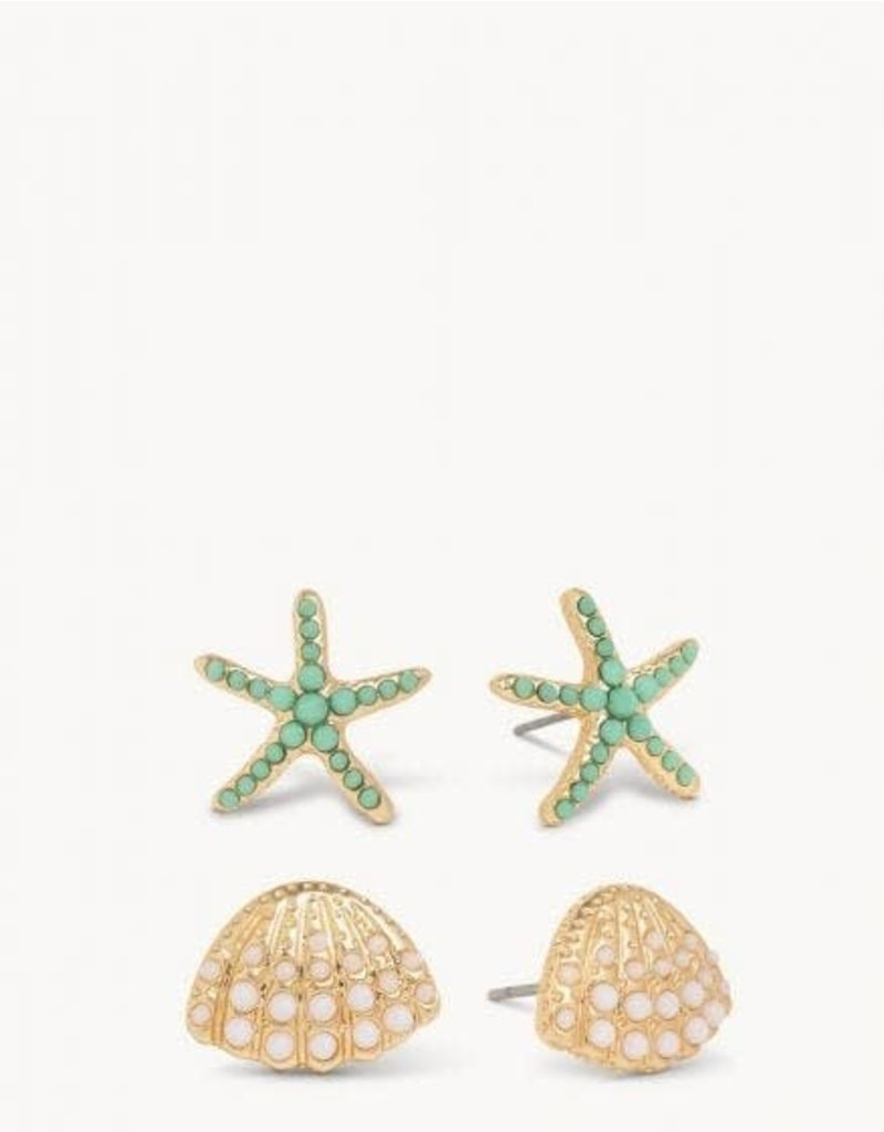 Spartina Sea Treasure Earring Stud Set