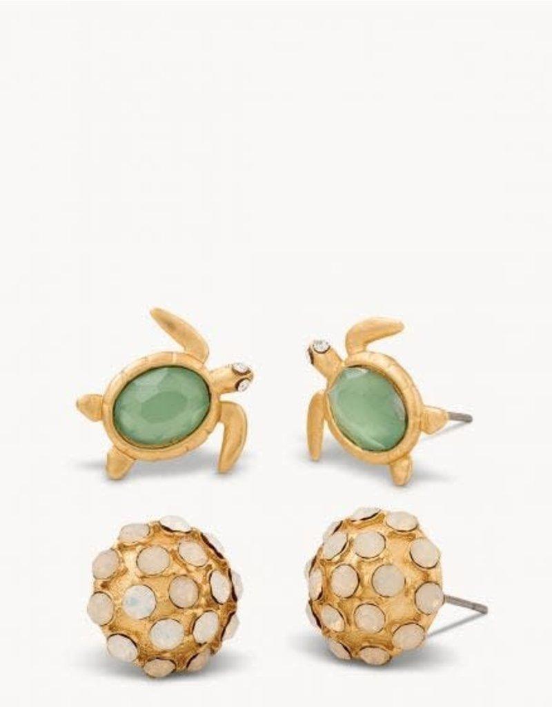 Spartina Sea Turtle Earrings Set