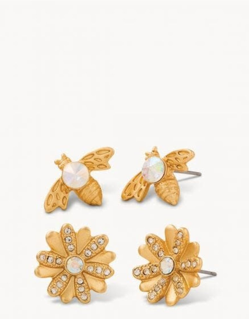 Spartina Bee Stud Earrings Set