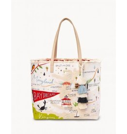 Spartina 449 Bay Dreams Embroidered Large Fringe Tote