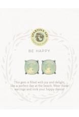 Spartina 449 Sea La Vie Be Happy Stud Earrings - Silver