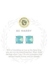 Spartina 449 Sea La Vie Be Marry Stud Earrings - Silver