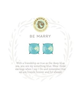 Spartina 449 Sea La Vie Be Marry Stud Earrings - Silver