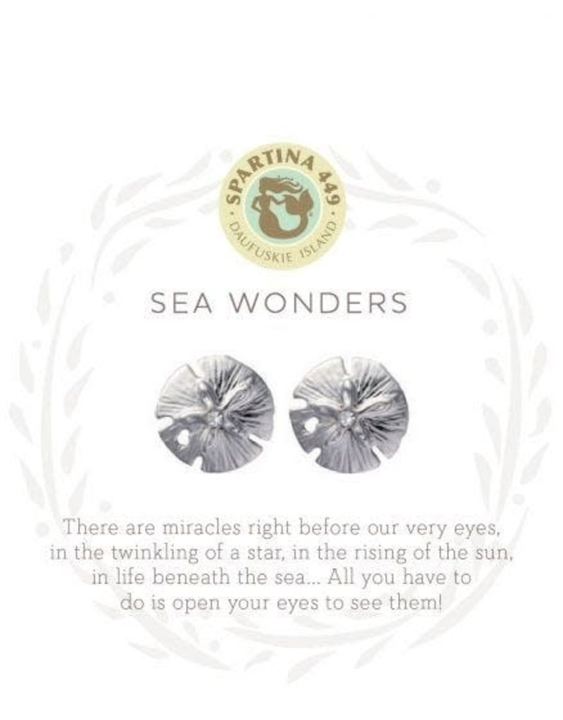 Spartina 449 Sea La Vie Sea Wonders Stud Earrings - Silver