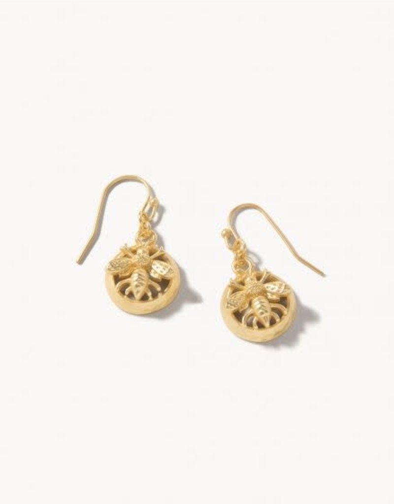 Spartina 449 Sticky Bee Drop Earrings Gold