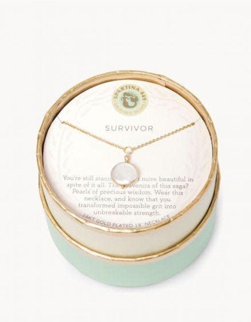 Spartina 449 Sea La Vie Survivor Necklace - Gold