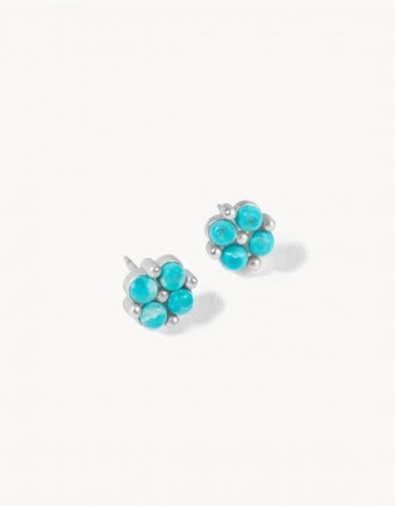 Spartina Clover Stud Earrings - Silver