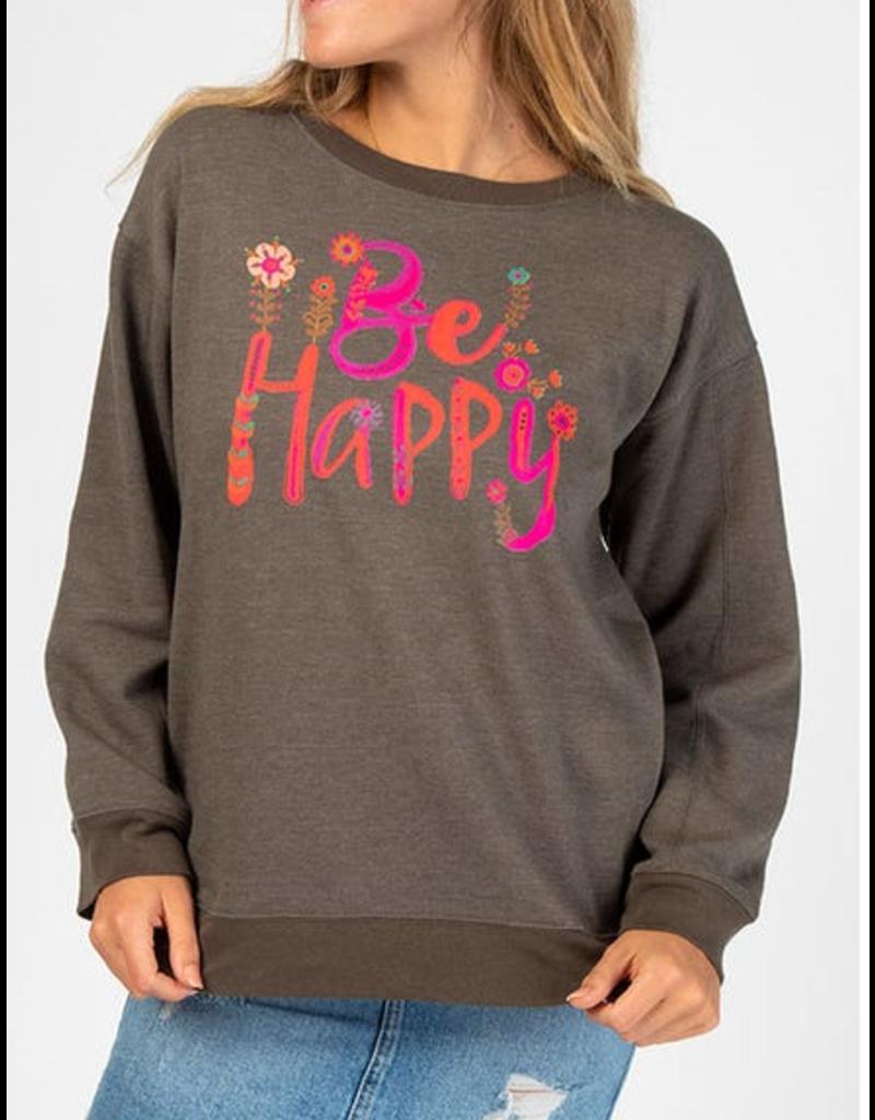 Natural Life Be Happy Sweatshirt