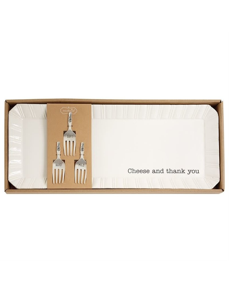 Mud Pie Cheese & Thank You Tray Set