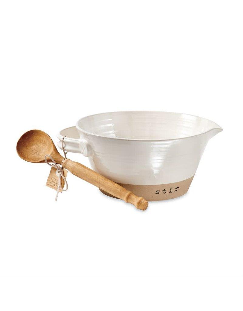 Mud Pie Stoneware Mixing Bowl Set