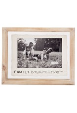 Mud Pie 4x6 Family Glass Frame