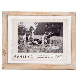 Mud Pie Small Family Glass Frame