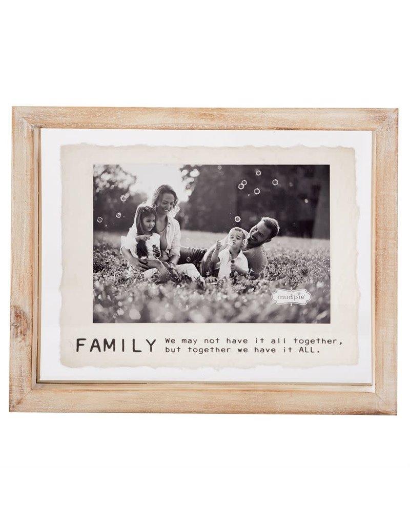 Mud Pie 4x6 Family Glass Frame