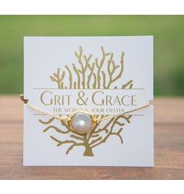 Grit & Grace Grit Adjustable Bracelet - Pearl