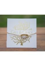 Grit & Grace Grit Adjustable Bracelet - Cowrey Shell