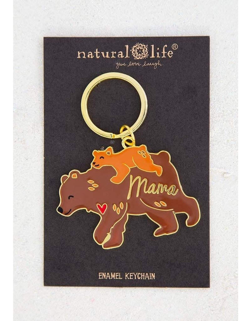 Natural Life Mama Bear Keychain