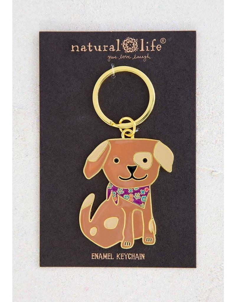 Natural Life Dog Keychain