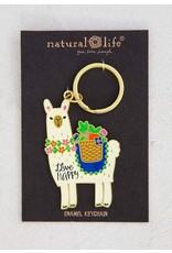 Natural Life Llama Keychain