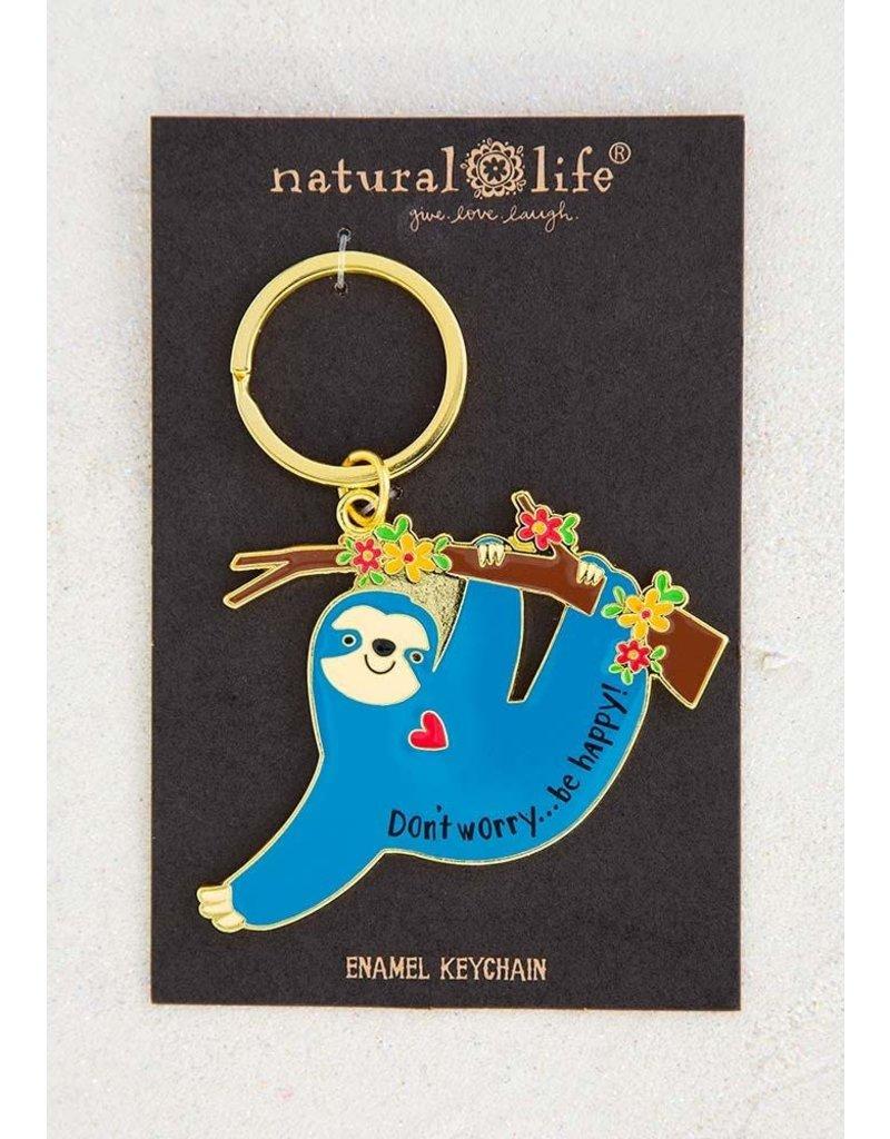 Natural Life Sloth Keychain