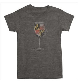 MarylandMyMaryland Maryland Girl Wine Glass T-shirt