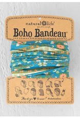 Natural Life Boho Bandeau - Blue Flower Medallion