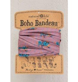 Natural Life Boho Bandeau - Mauve Turquoise Floral